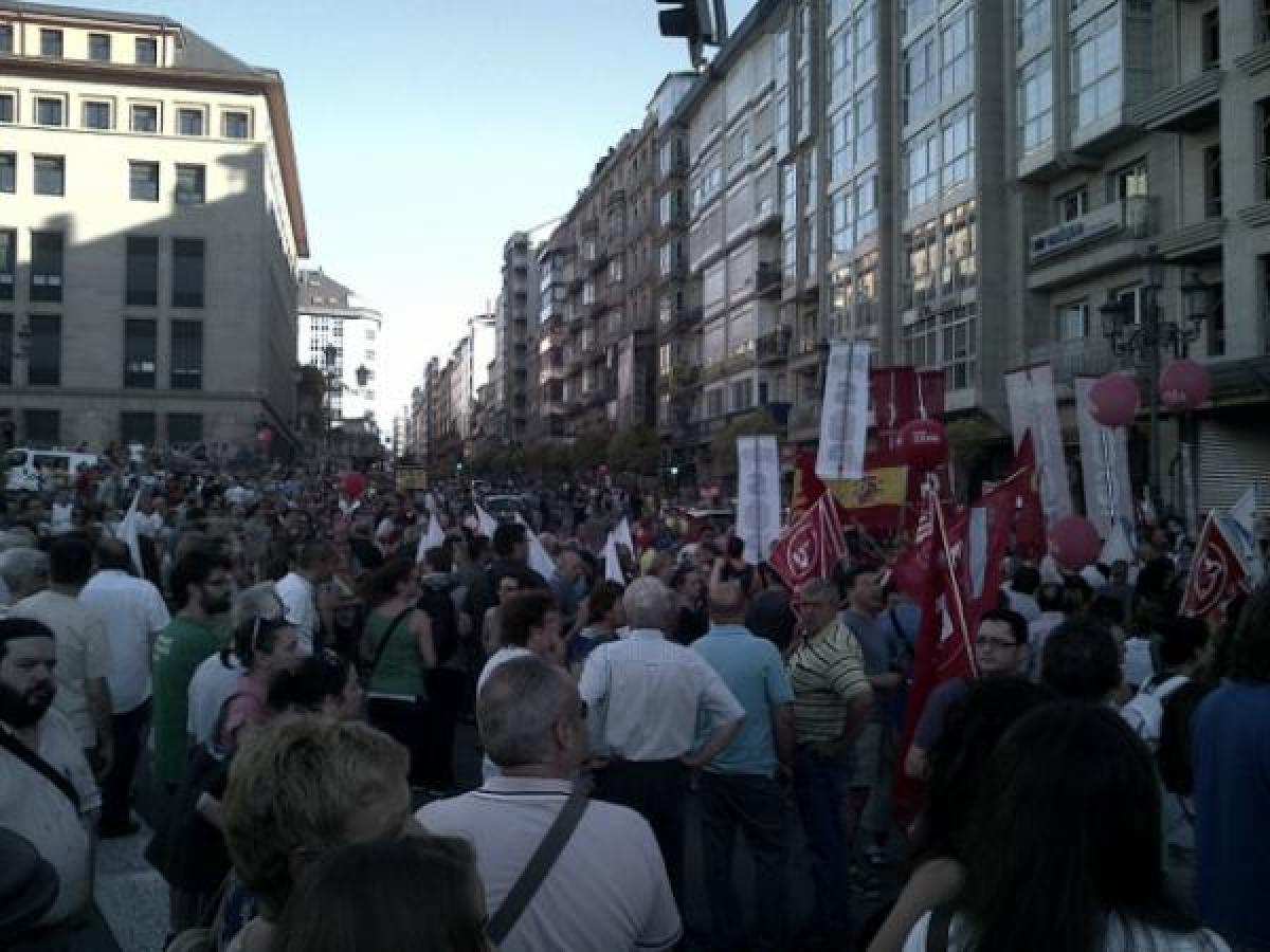 Protesta no centro de Ourense