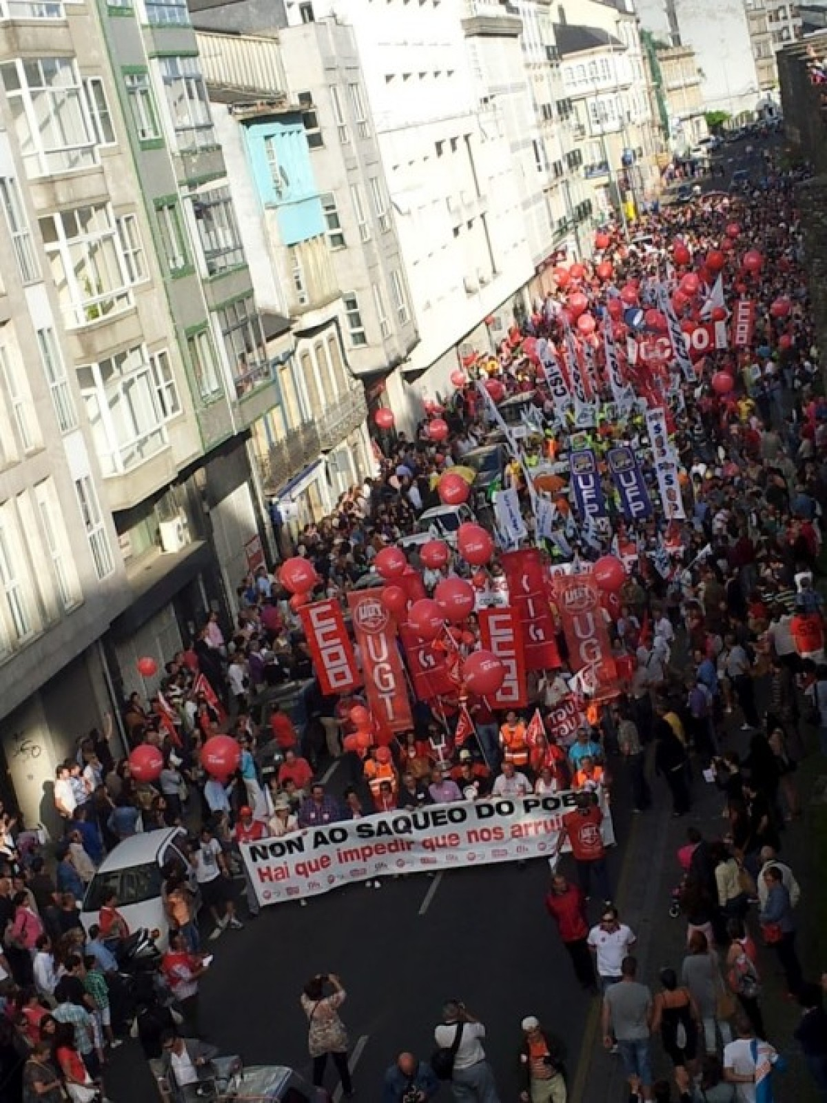 Inicio da manifestación en Lugo