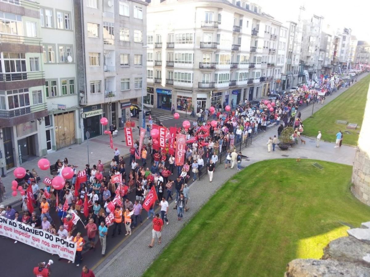 Vista da marcha en Lugo