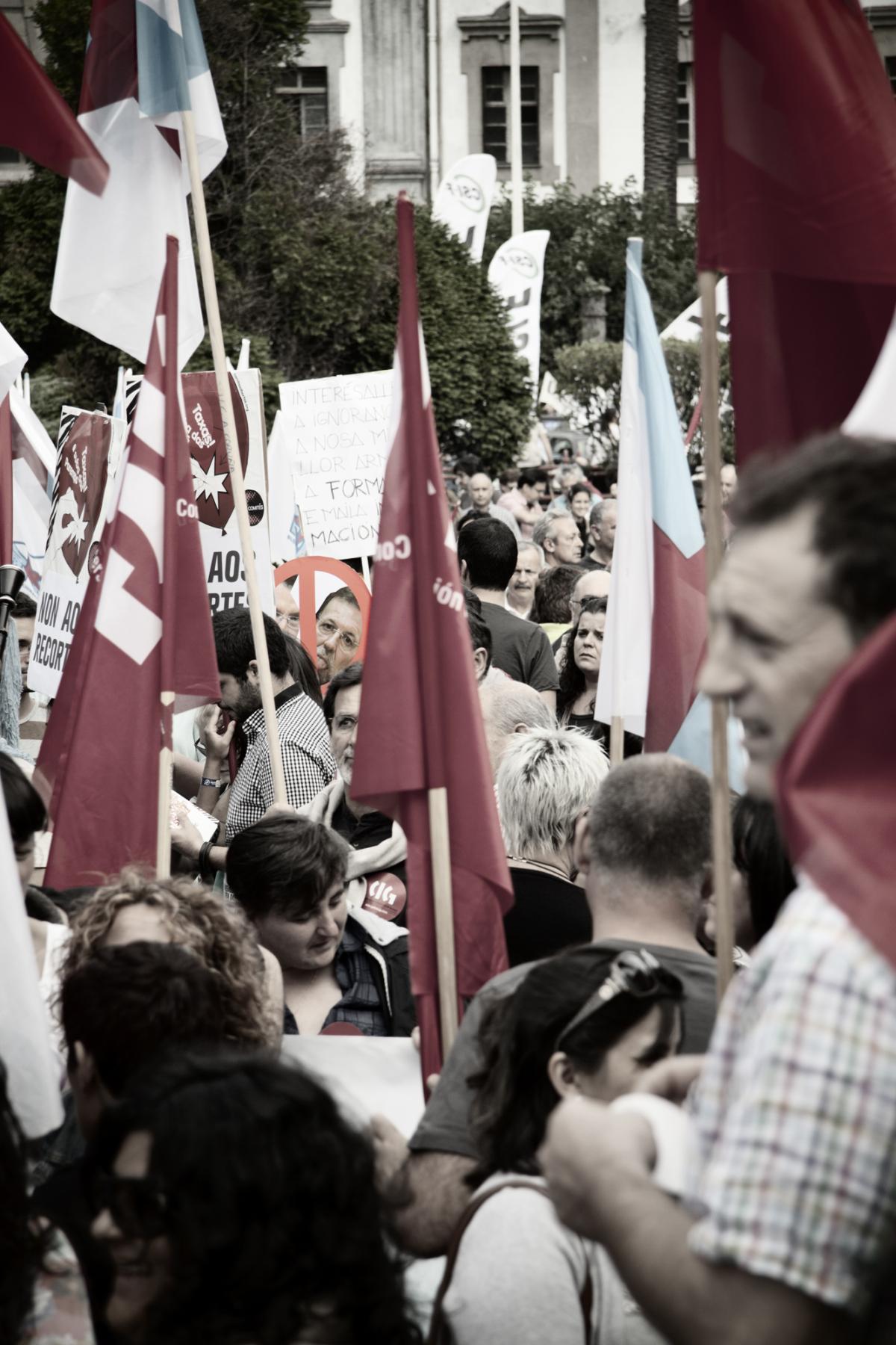 Bandeiras na Coruña