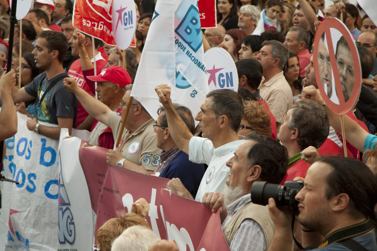 Remate da protesta na Coruña