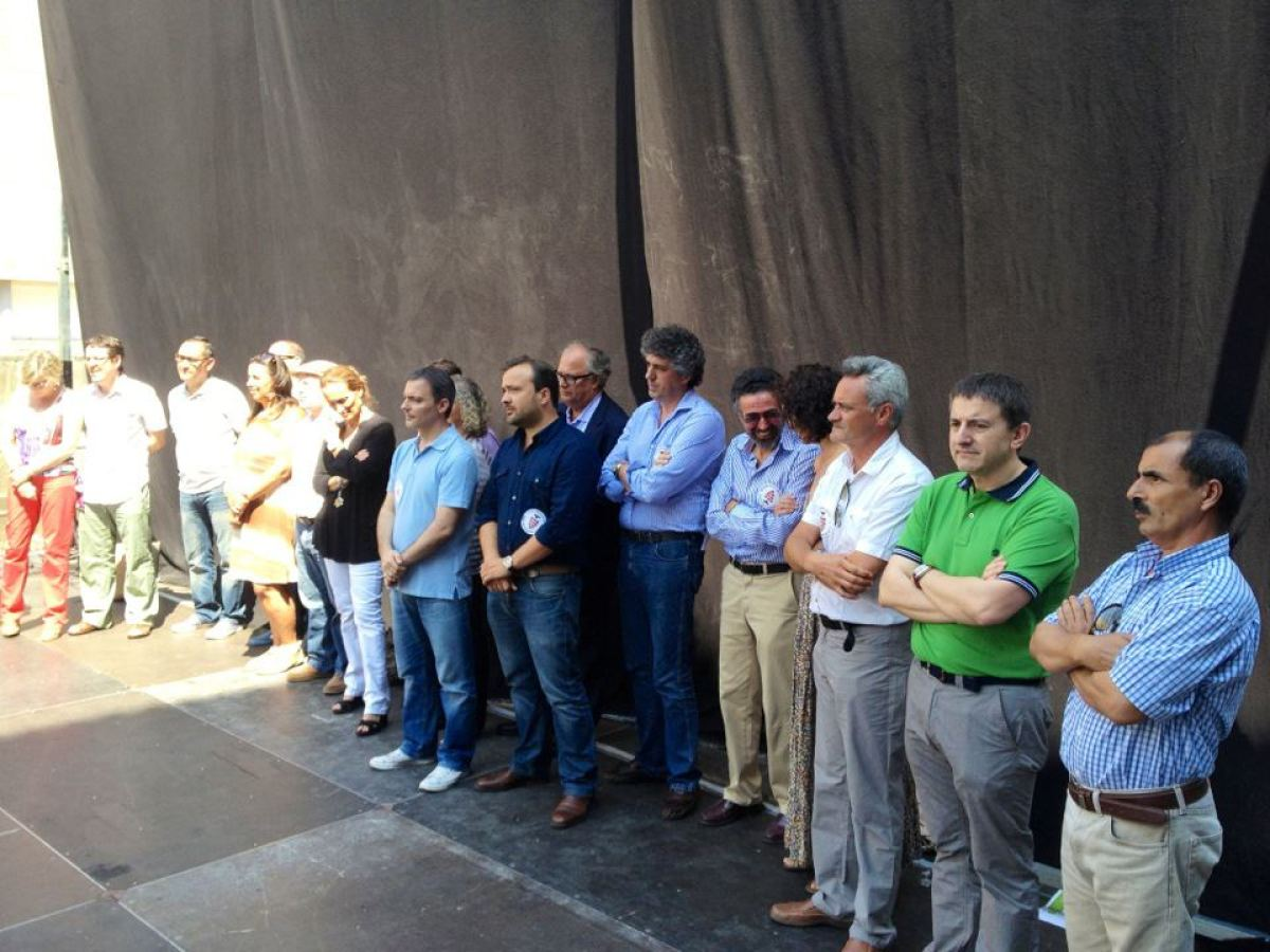 Dirixentes de CxG, durante o acto