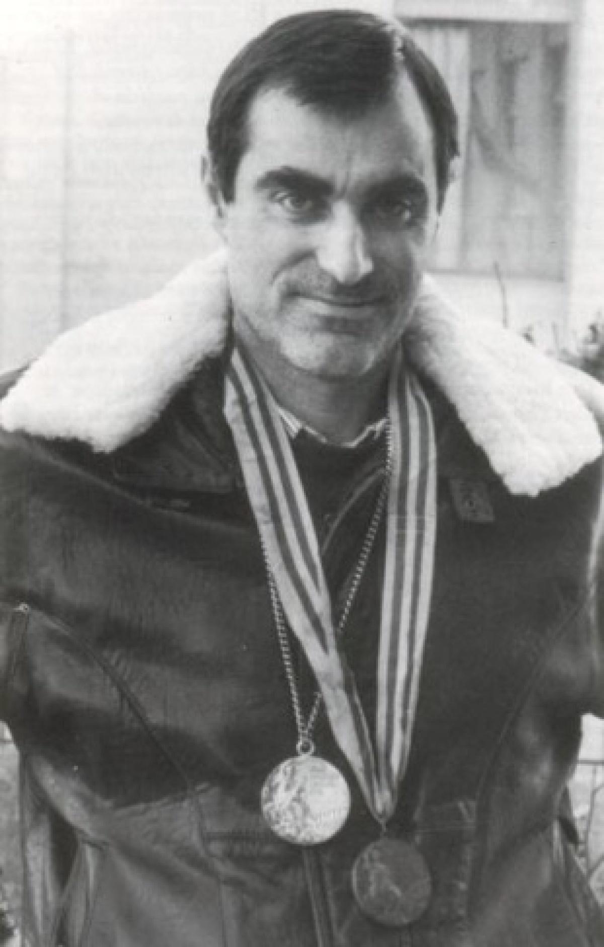Ramos Misioné, coa súas dúas medallas olímpicas