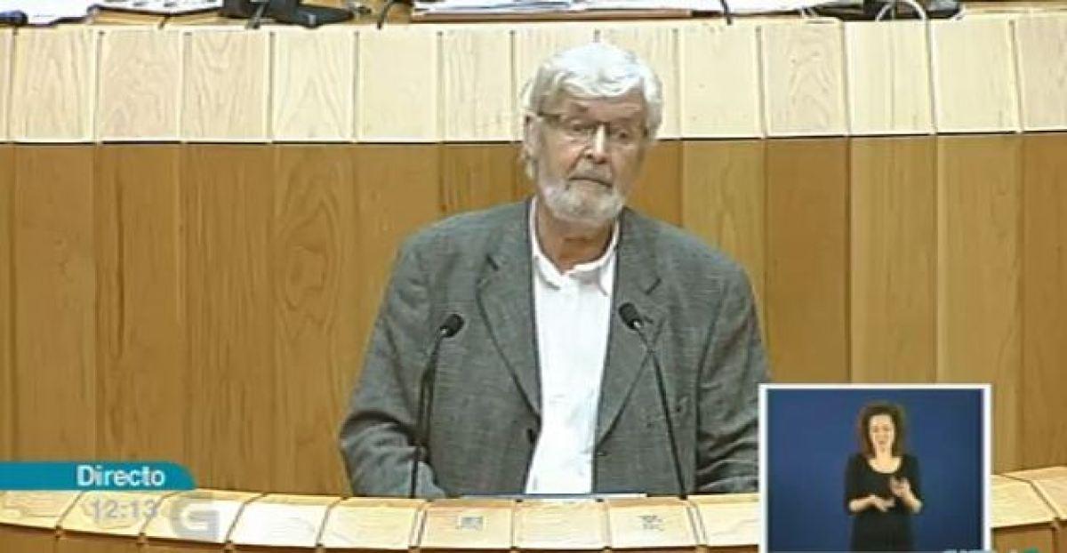 Beiras, captado pola TVG durante o debate