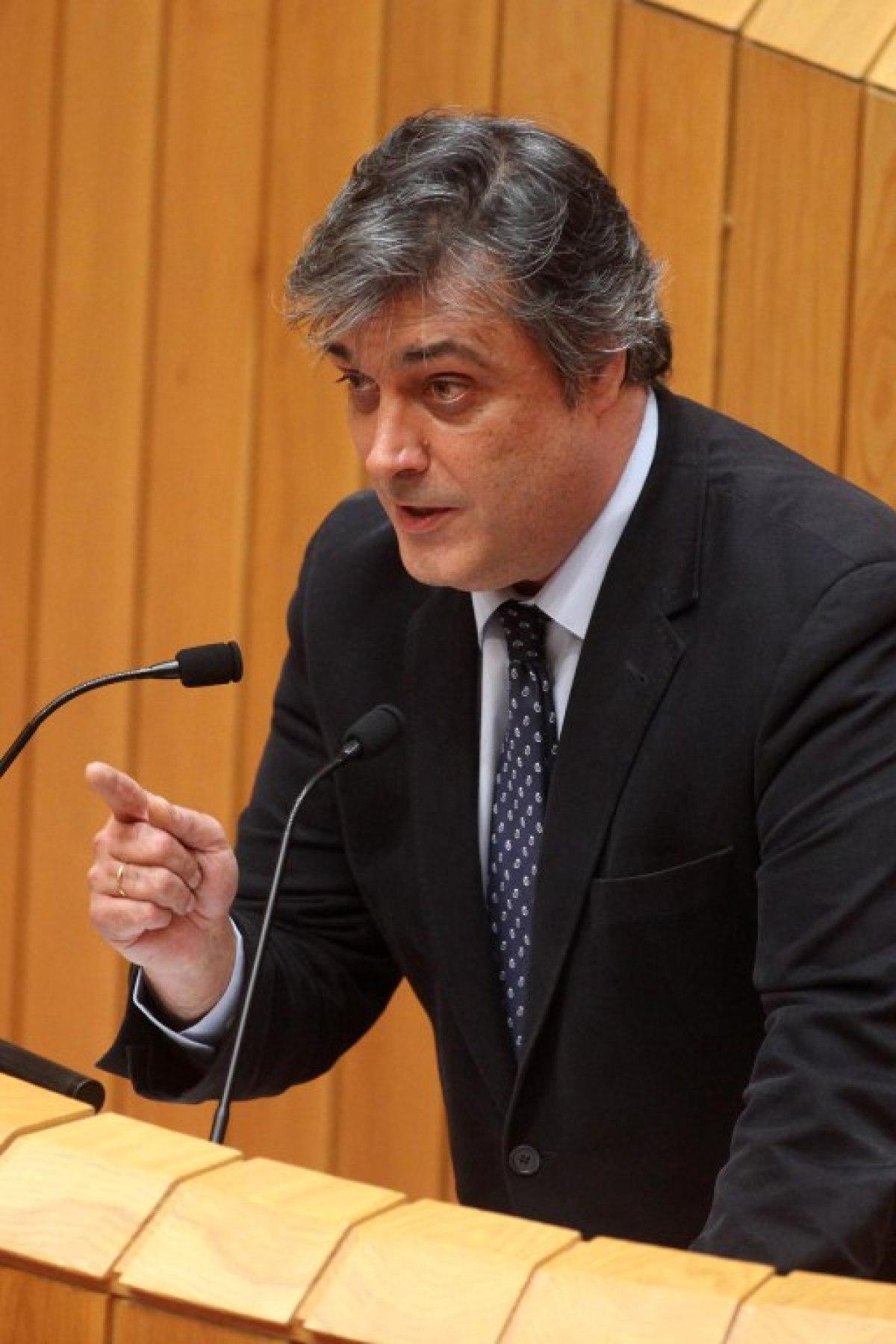 Pedro Puy, durante a súa réplica á oposición