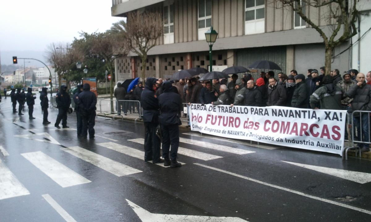 Despregamento policial ante a protesta
