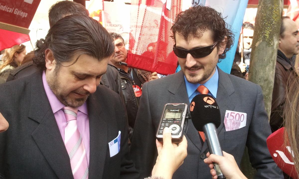 Os falsos Bárcenas atenden á prensa