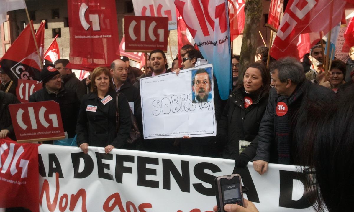 """Os """"sobres"""", presentes na protesta"""