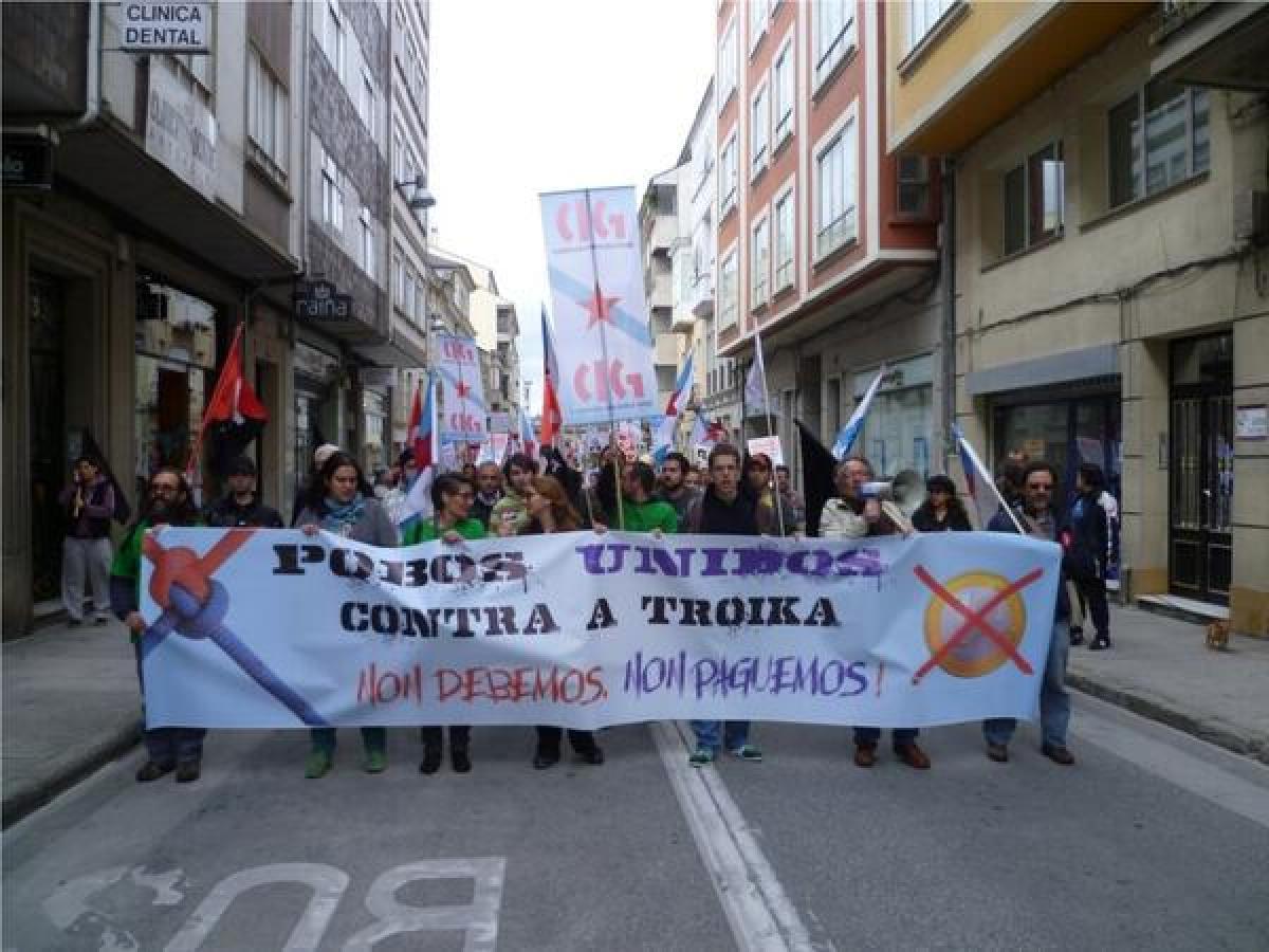 Vista da mobilización en Lugo