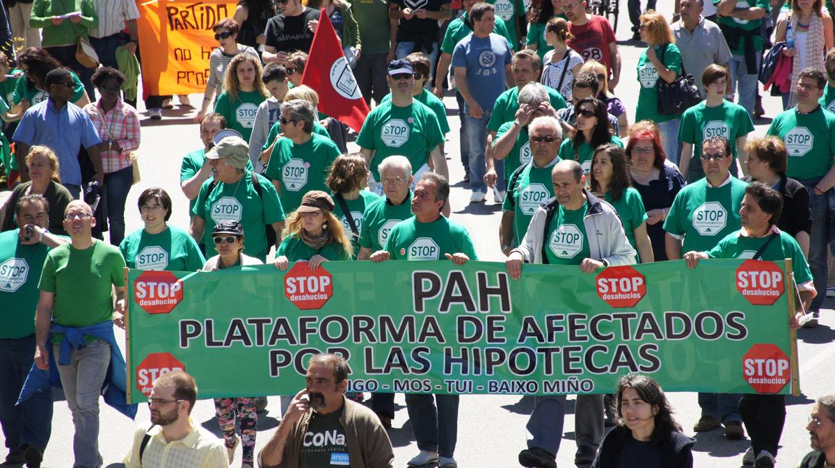 A PAH participou nas mobilizacións