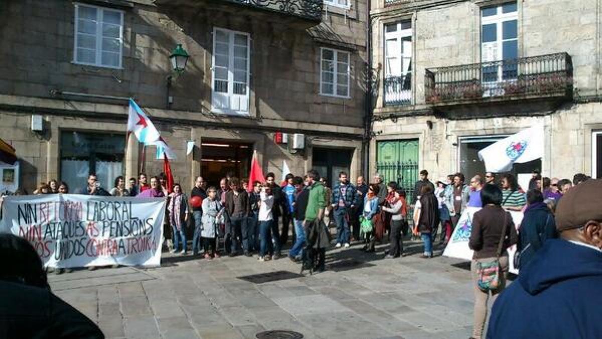 Remate da marcha en Compostela