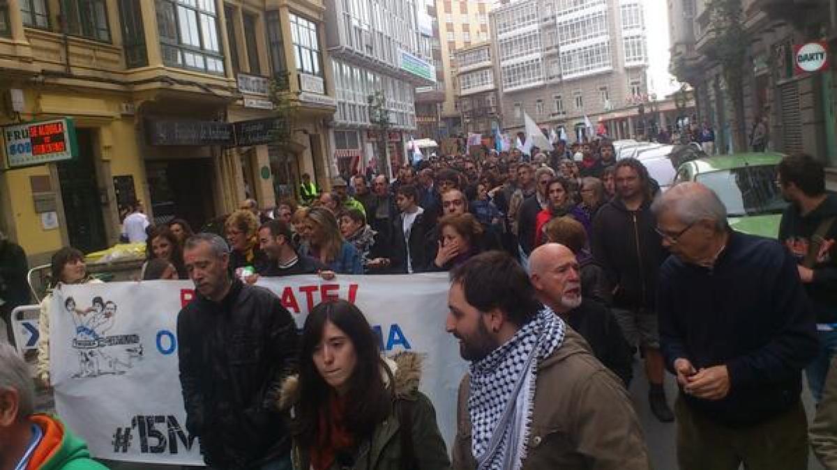 Manifestación na Coruña