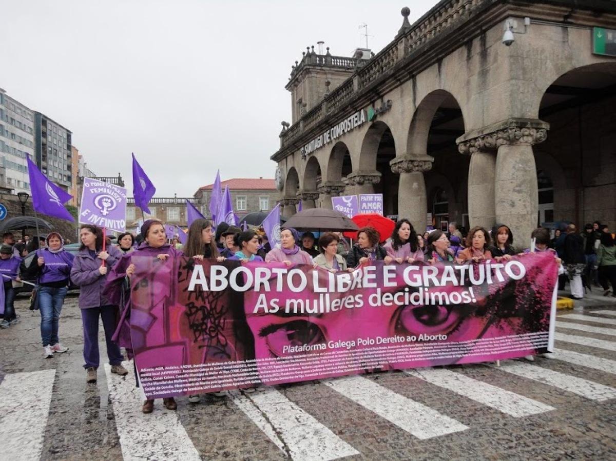 Manifestación polo dereito ao aborto