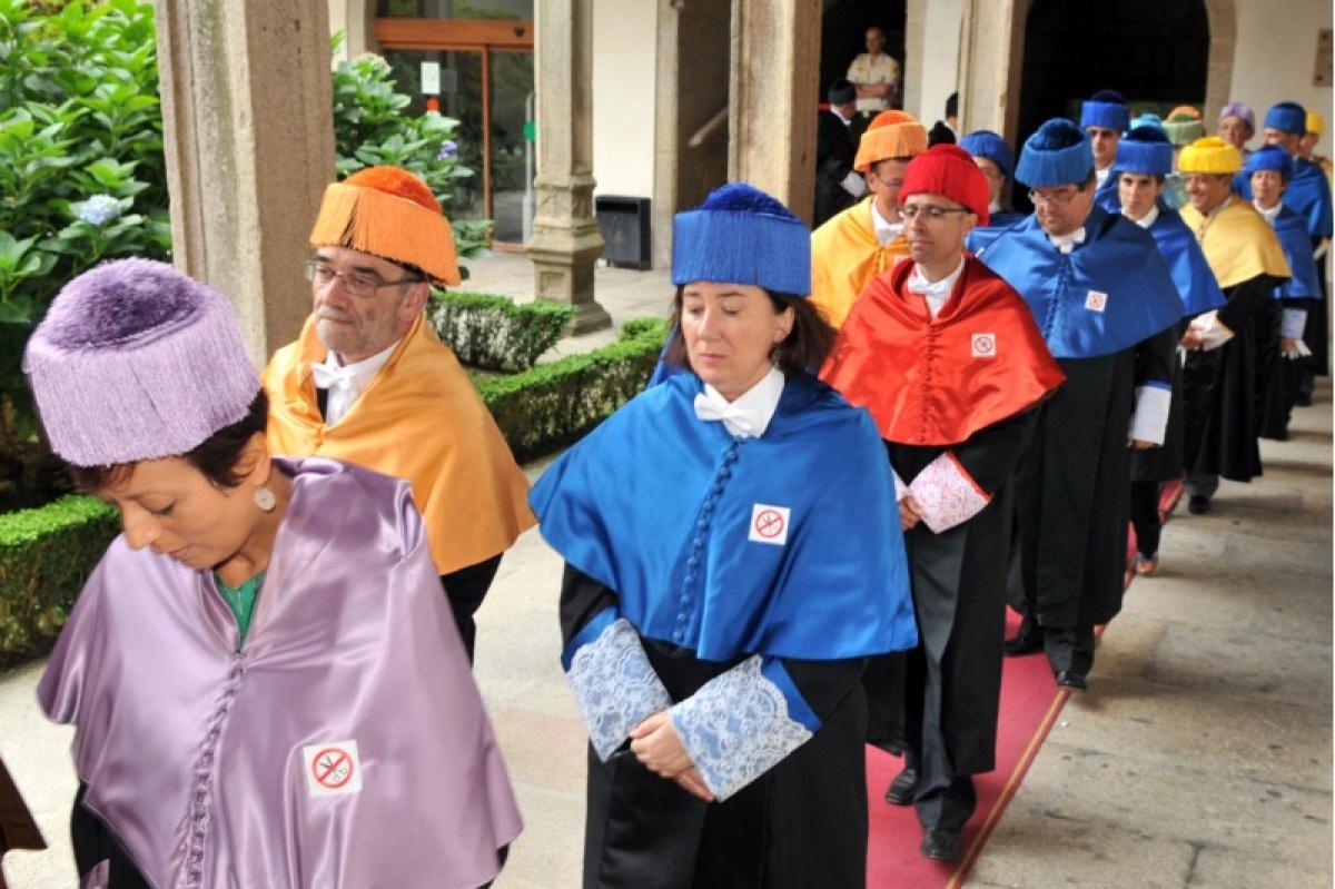 A reivindicación contra os recortes, tamén nas togas