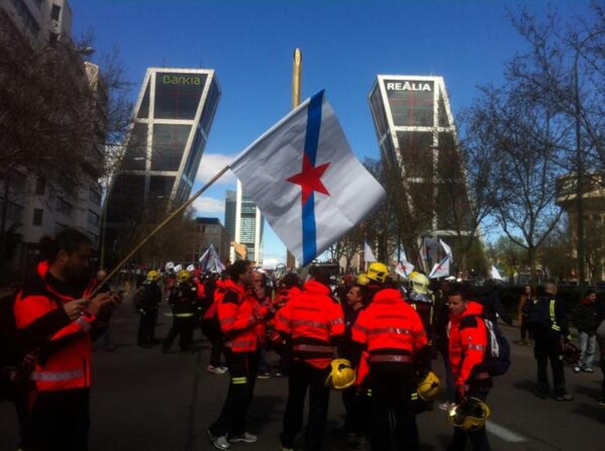 A columna galega, polas rúas de Madrid