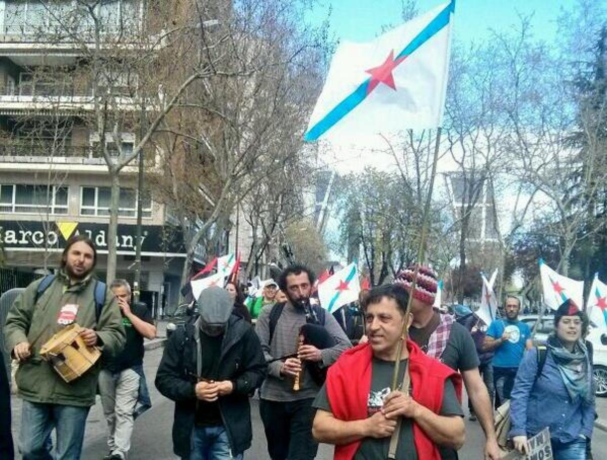 Manifestantes galegos en Madrid