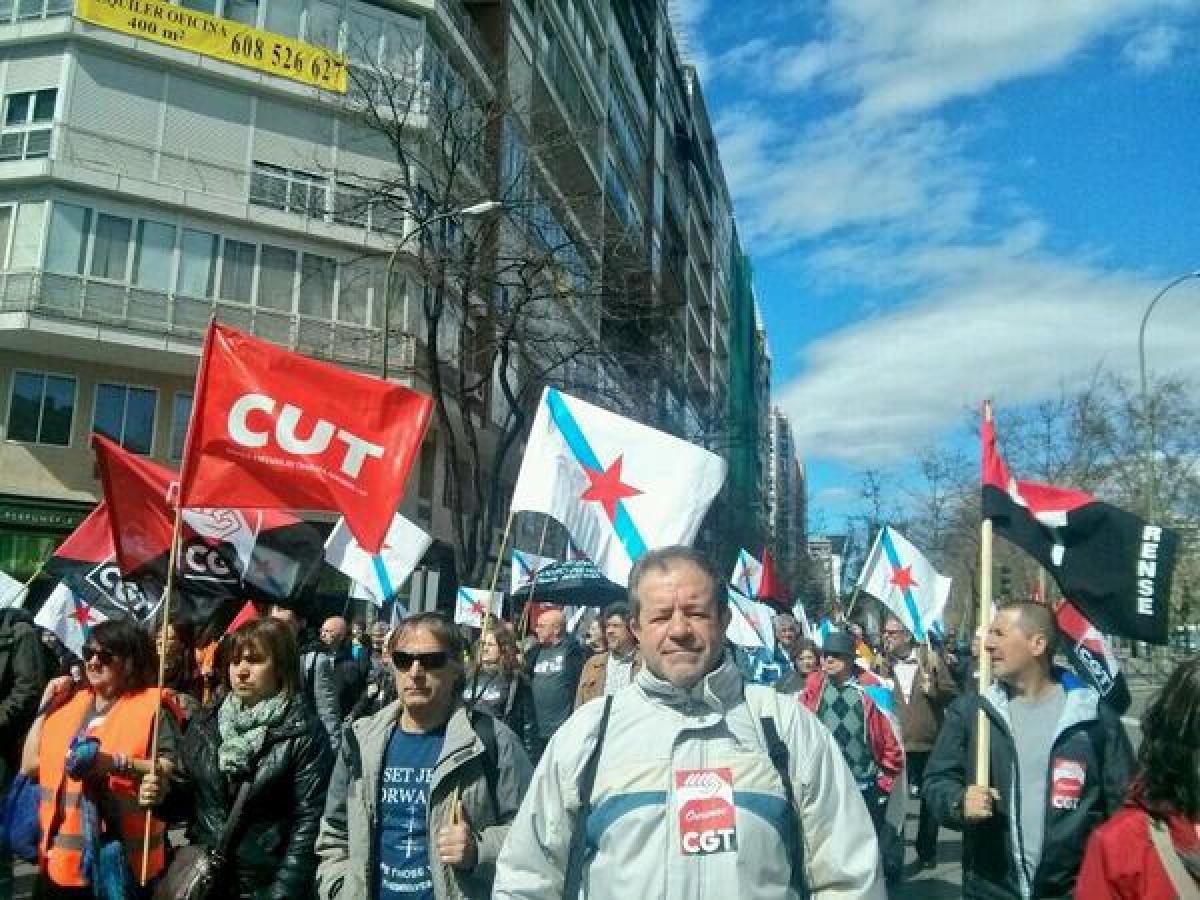 Representantes sindicais galegos