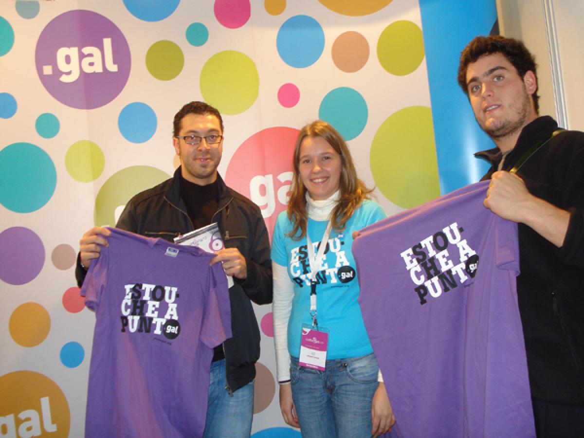 Promoción do .gal no Culturgal 2008