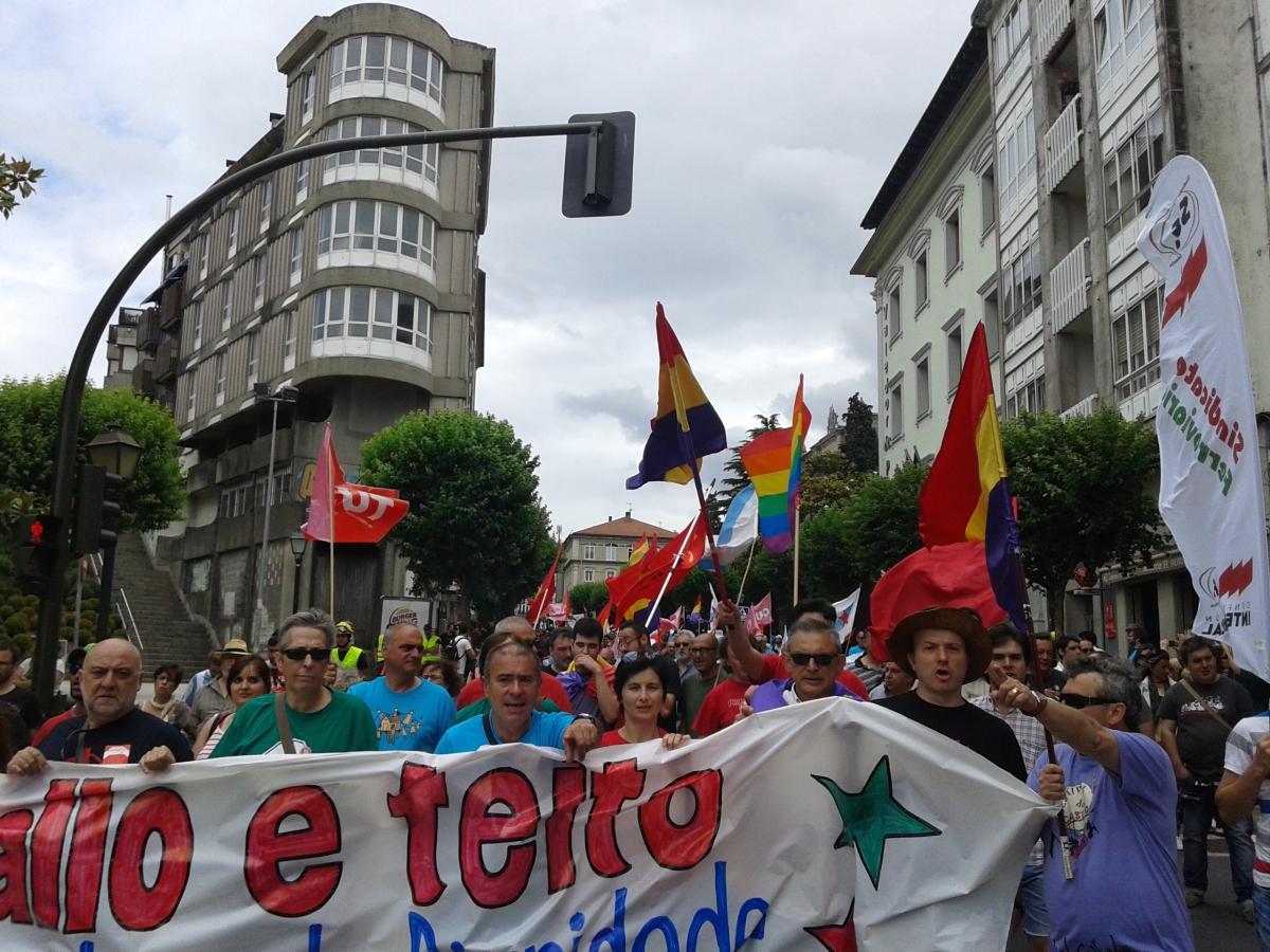 Faixa principal da manifestación