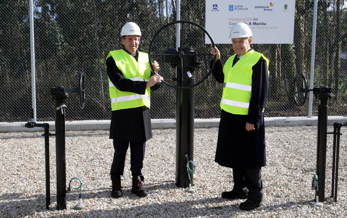Inauguración o 9 de febreiro de 2015 do gasoduto da Mariña