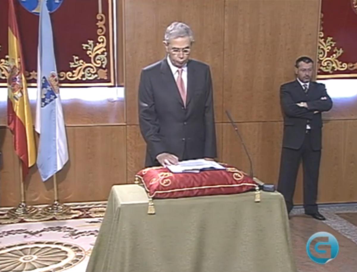 Emilio Pérez Touriño (2005), nunha imaxe da TVG