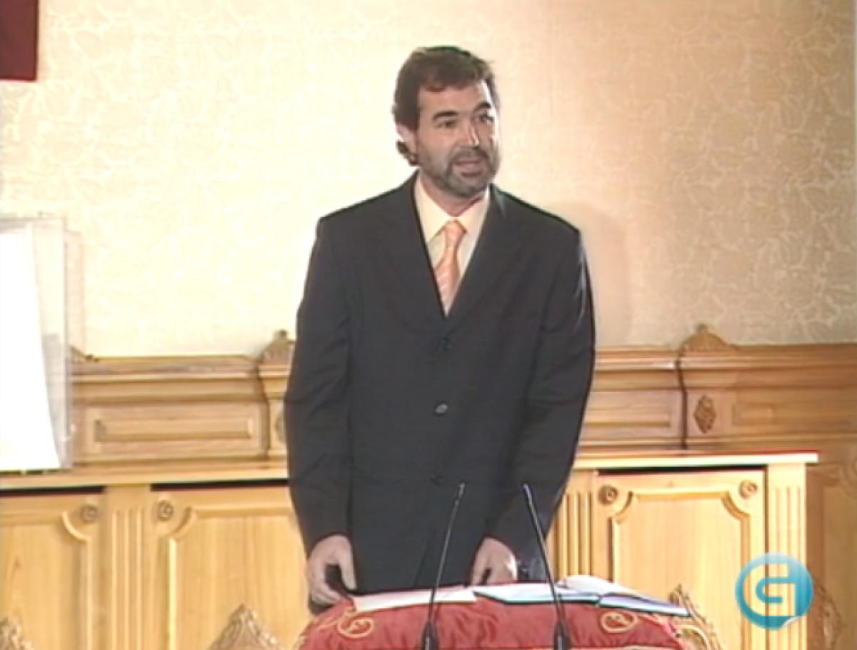 Anxo Quintana (2005), nunha imaxe da TVG