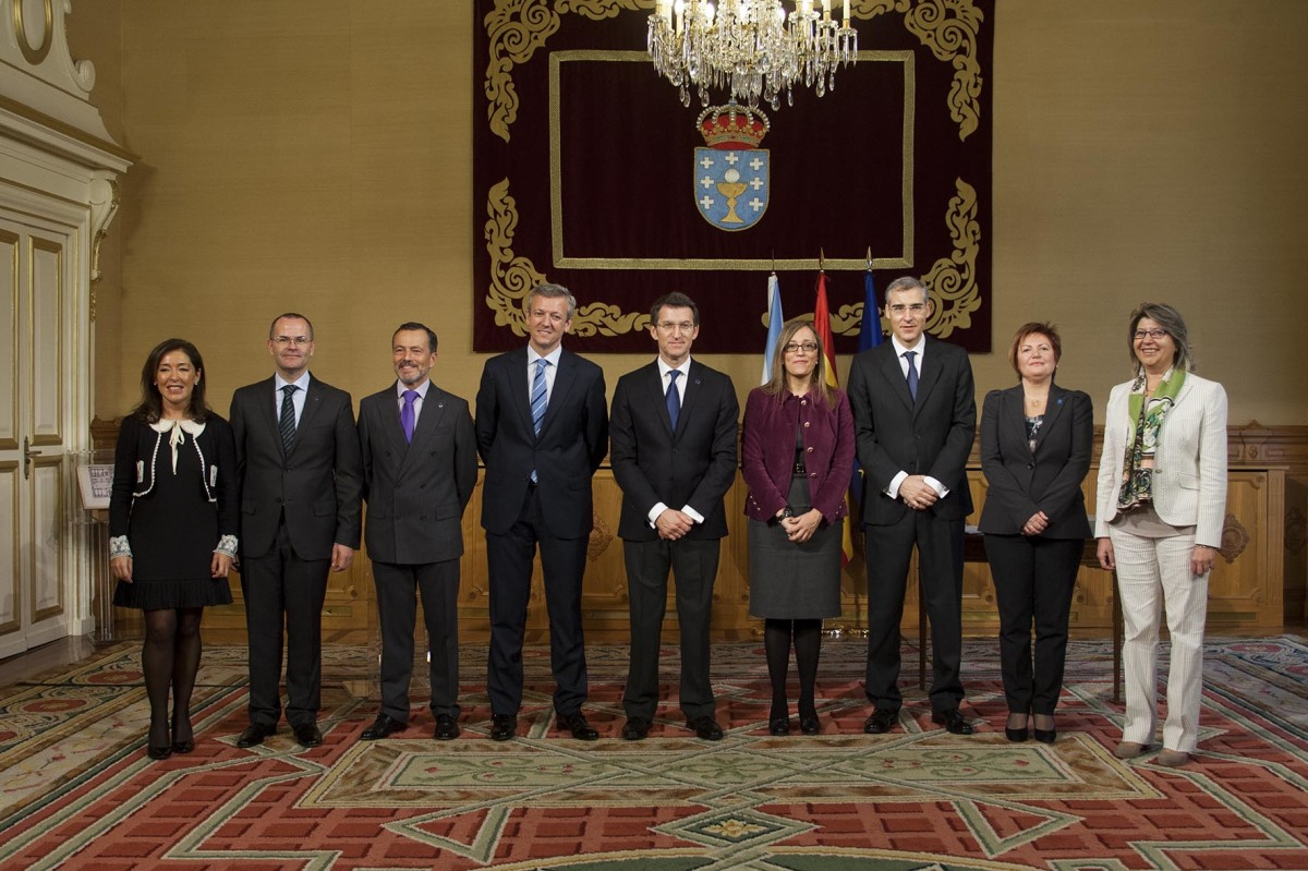 Goberno nomeado por Feijóo tras as autonómicas de 2012