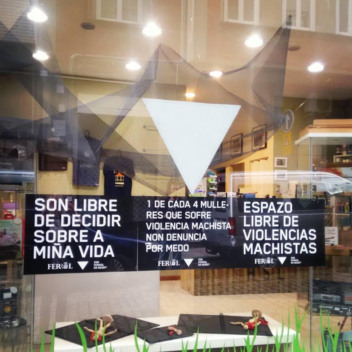 A campaña, nun establecemento comercial de Ferrol