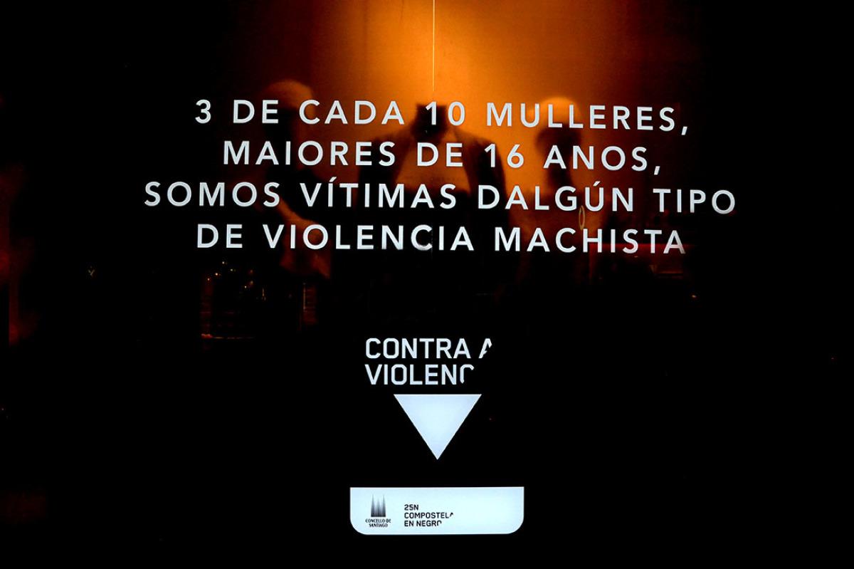 As tendas de lencería tamén amosaron a cara da violencia de xénero
