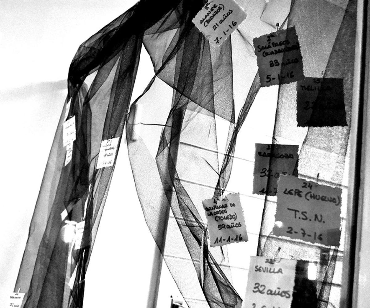 Unha cortina de nomes que lembra ás vítimas, Bertamiráns