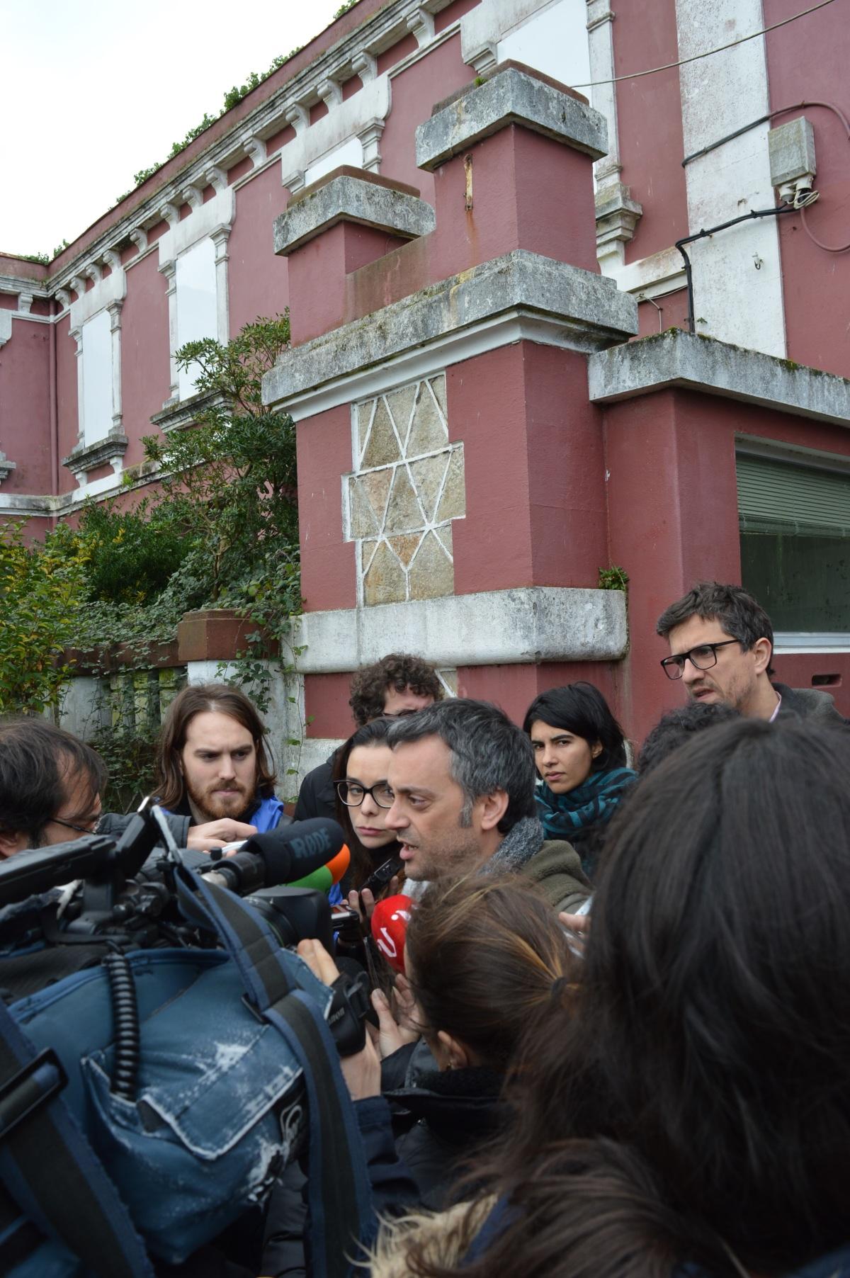 Declaracións de Xulio Ferreiro, antes de comezar a visita