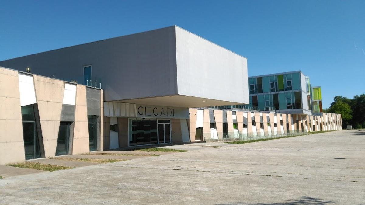 Vista do CEGADI, no barrio compostelán de Salgueiriños