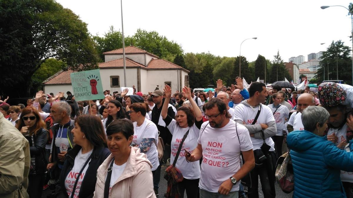 Un intre da manifestación