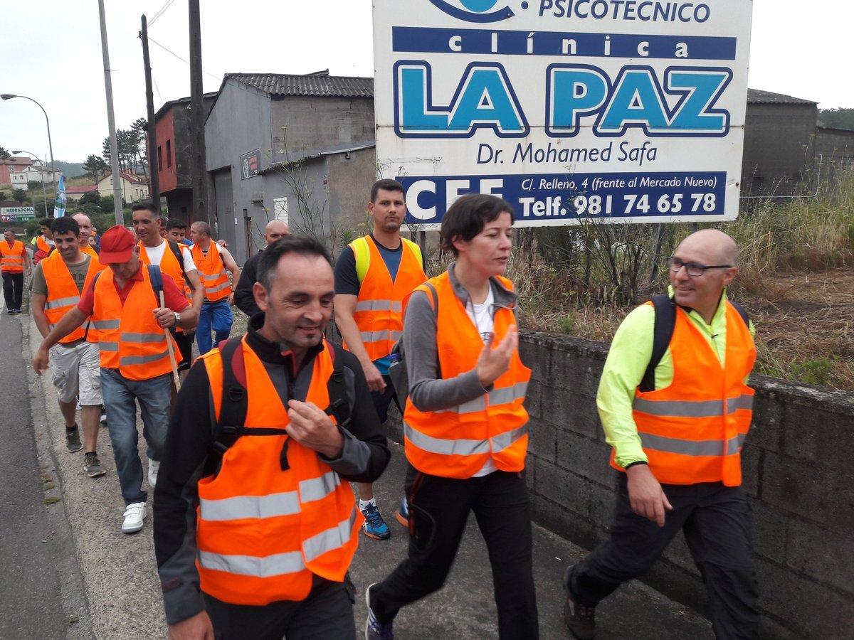 A portavoz do BNG, Ana Pontón, durante a súa participación na marcha de Ferroatlántica