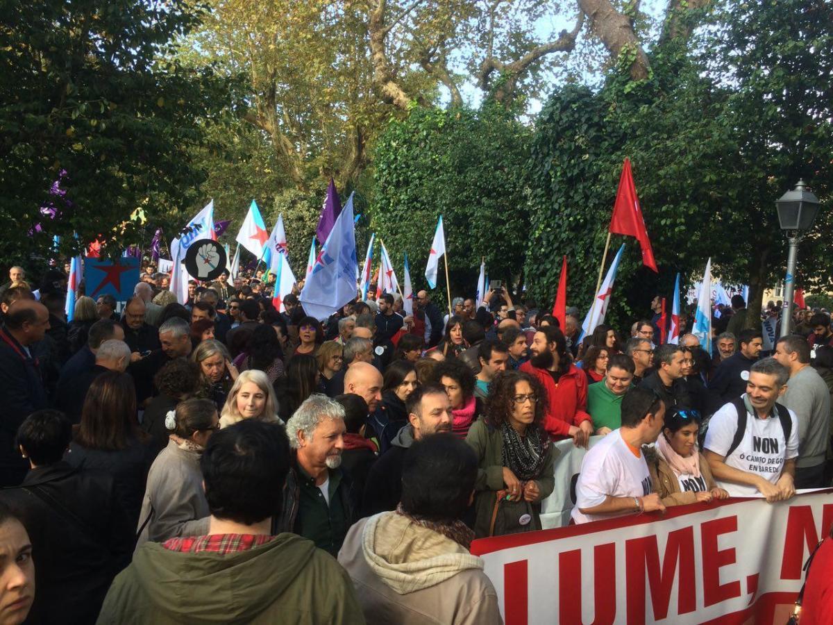 A manifestación partiu da Alameda