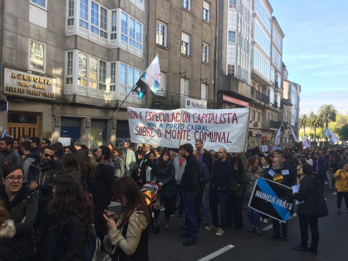 Na marcha houbo tamén referencias a Porto Cabral