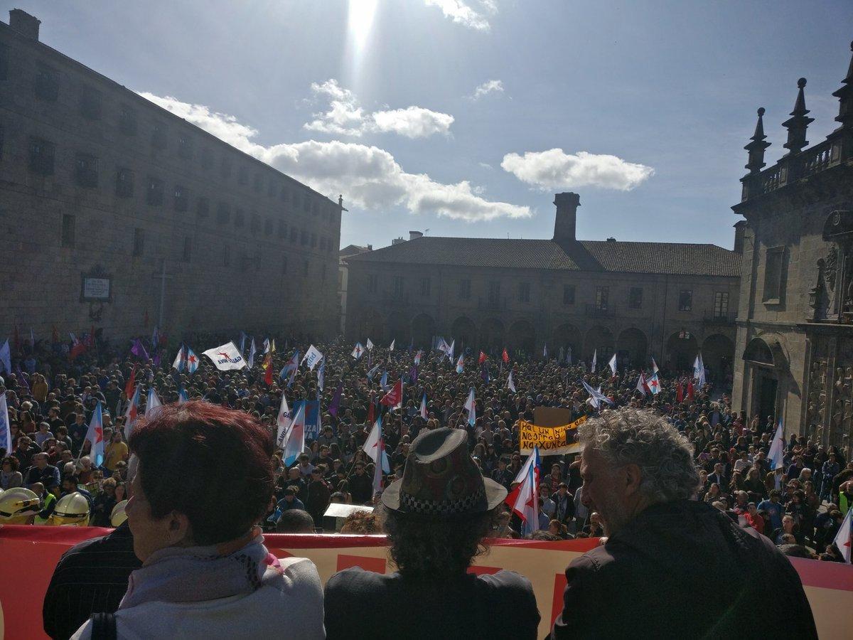 A Praza da Quintana, ateigada de xente