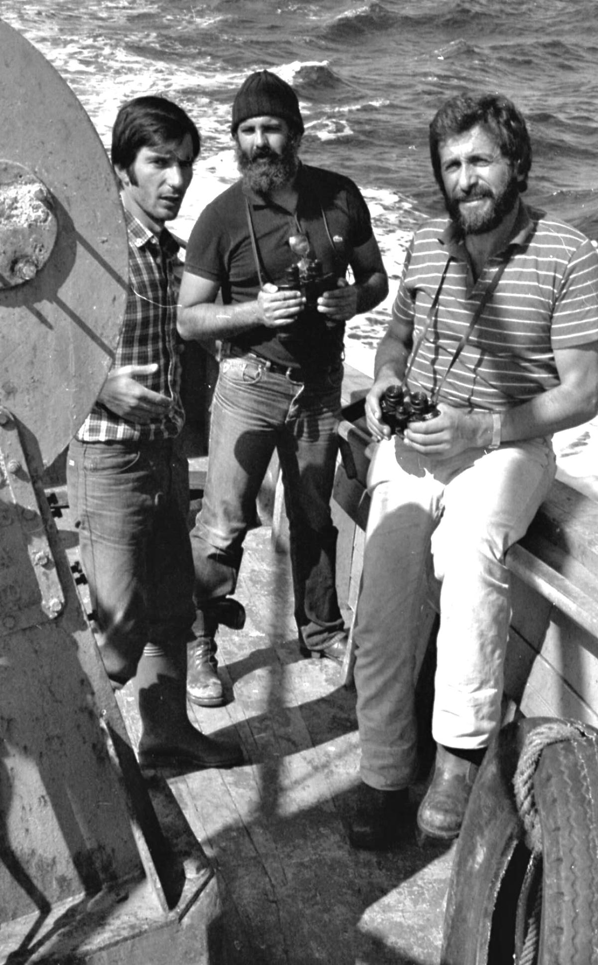 Manuel Méndez, á esquerda, con outros membros de Esquerda Galega (Foto: Xosé Castro)