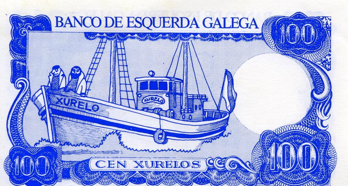 'Billetes' conmemorativos da viaxe do 'Xurelo' emitidos por Esquerda Galega