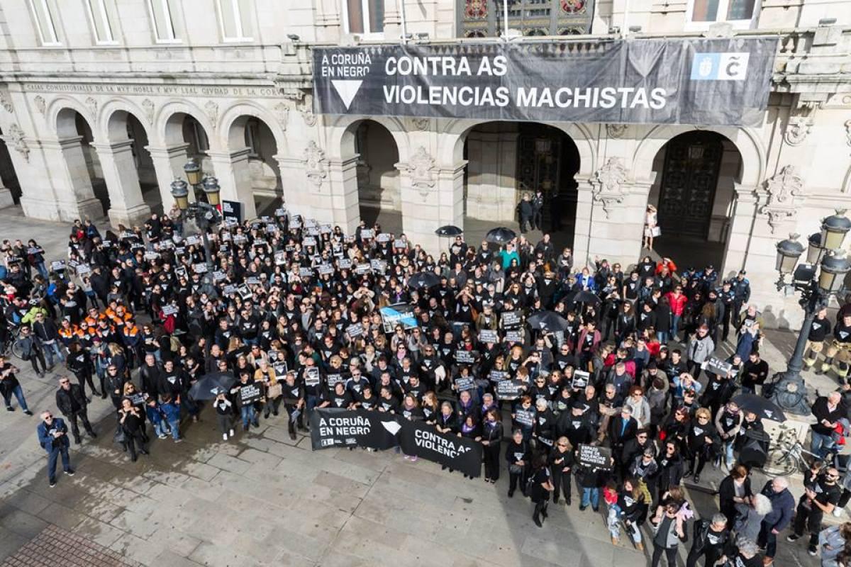 Concentración ante a casa do Concello da Coruña
