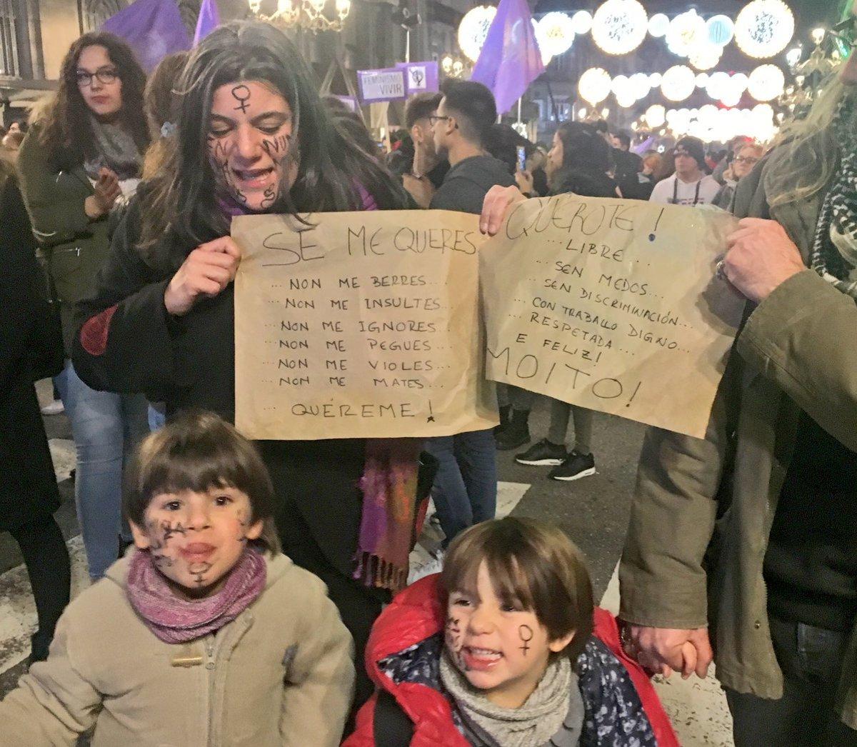 Un intre da manifestación en Vigo