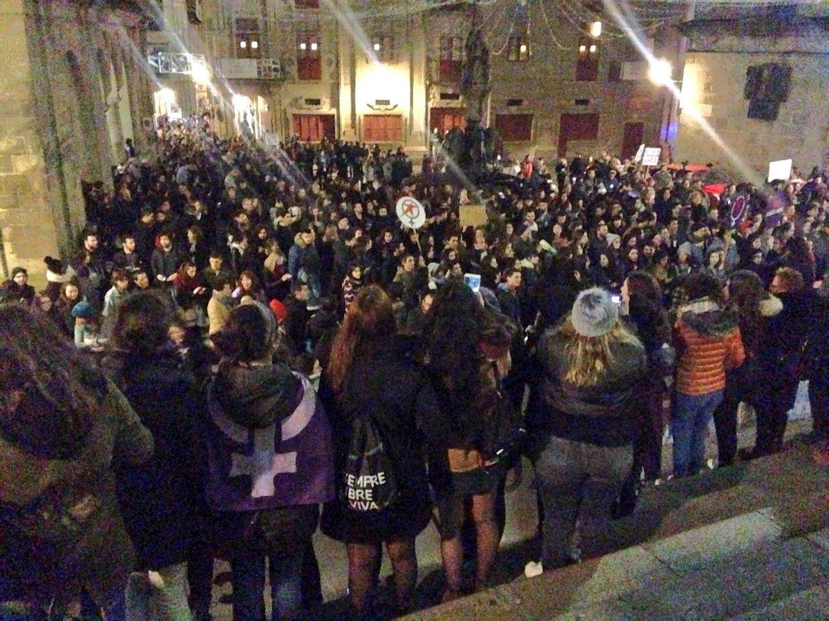 Remate da manifestación en Santiago
