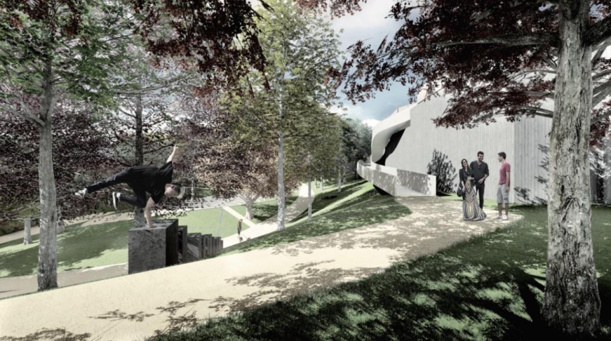 Parque que a Xunta quere crear no burato que deixou o Teatro do Gaiás