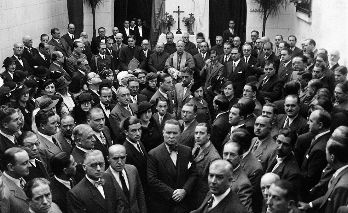 Inauguración do Sanatorio Social a mediados dos anos 30
