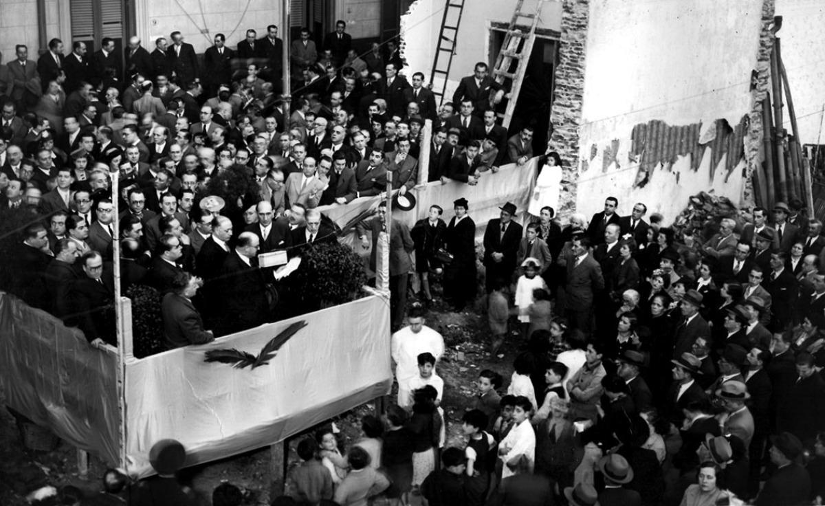 Inauguración doutra dependencia do CGBA, en 1939