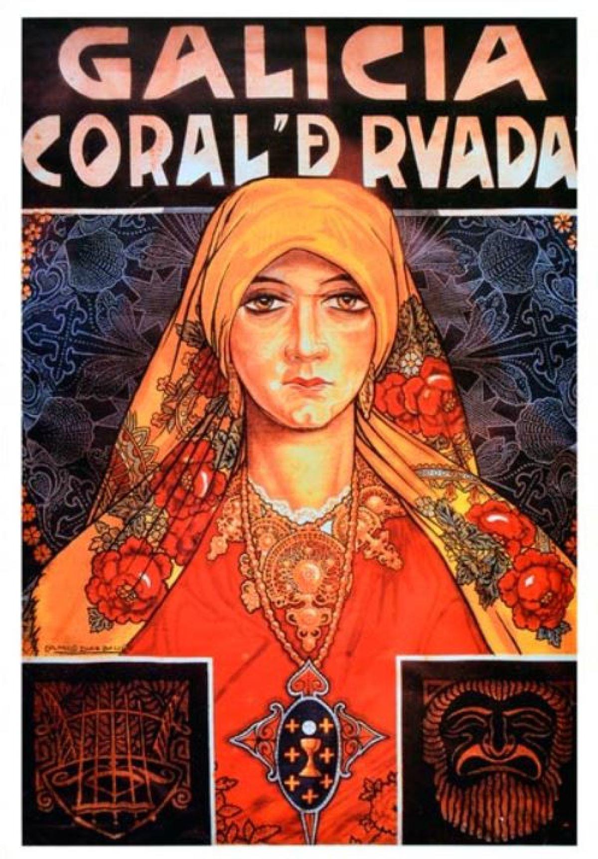 Cartel para a Coral De Ruada, por Camilo Díaz Baliño