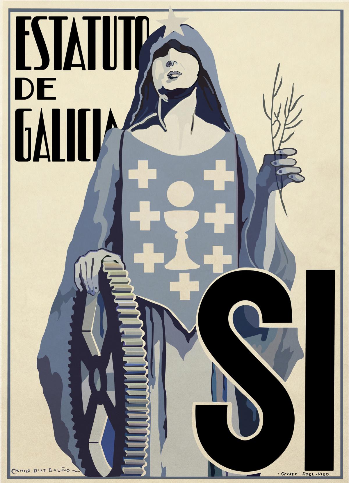Cartel a prol do Estatuto de Galicia de 1936