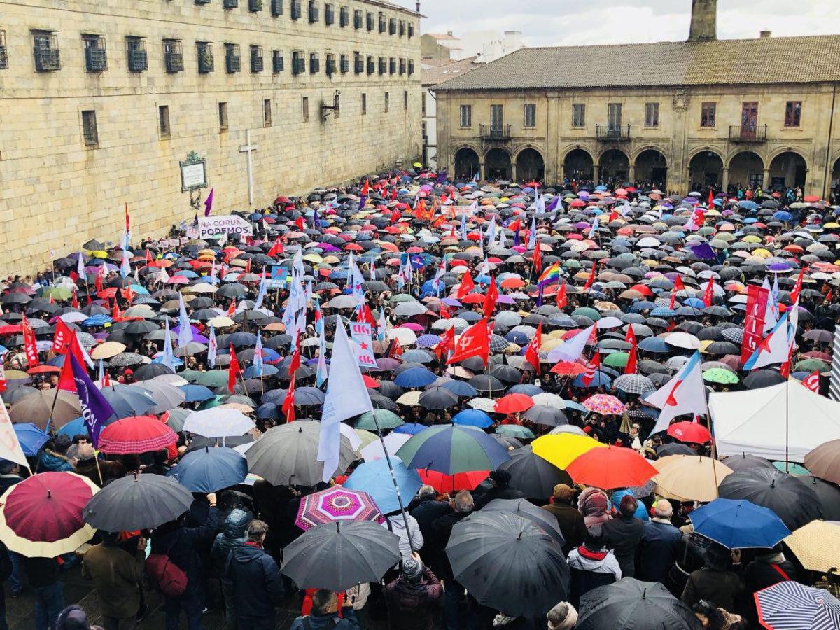 A Quintana, ateigada na manifestación pola sanidade pública