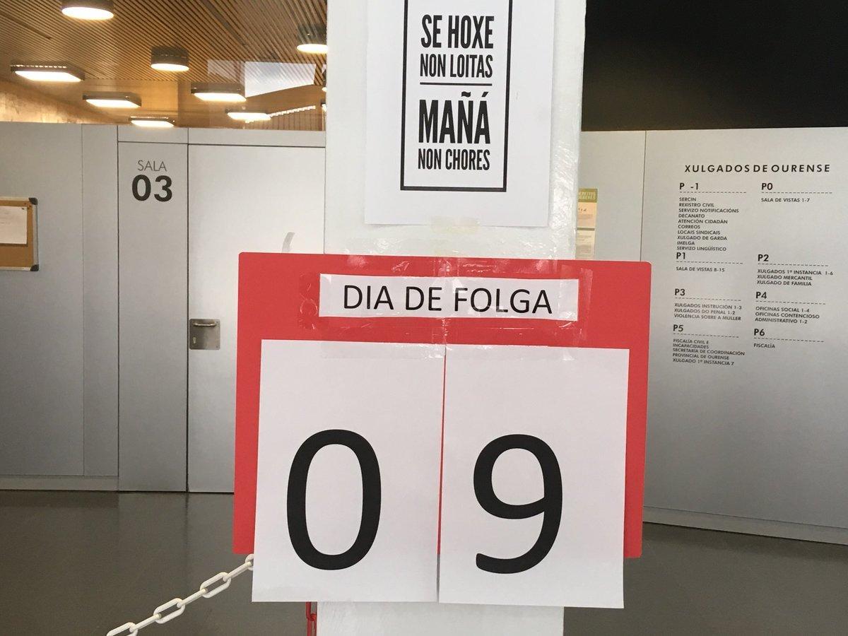 Xulgados baleiros en Ourense