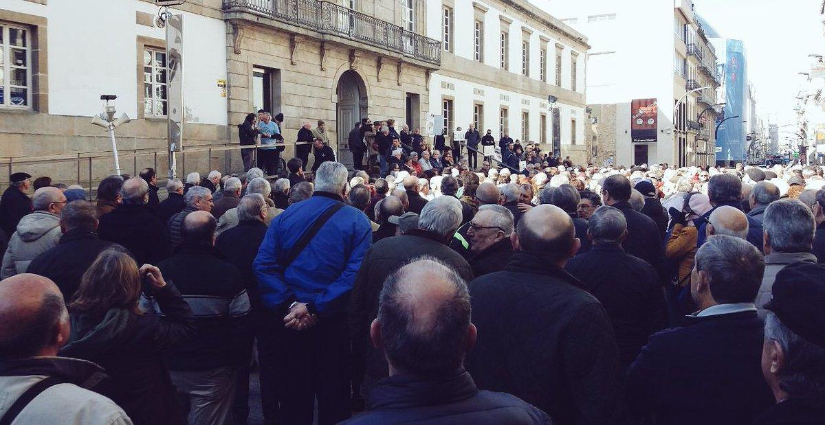 Concentración de pensionistas en Vigo